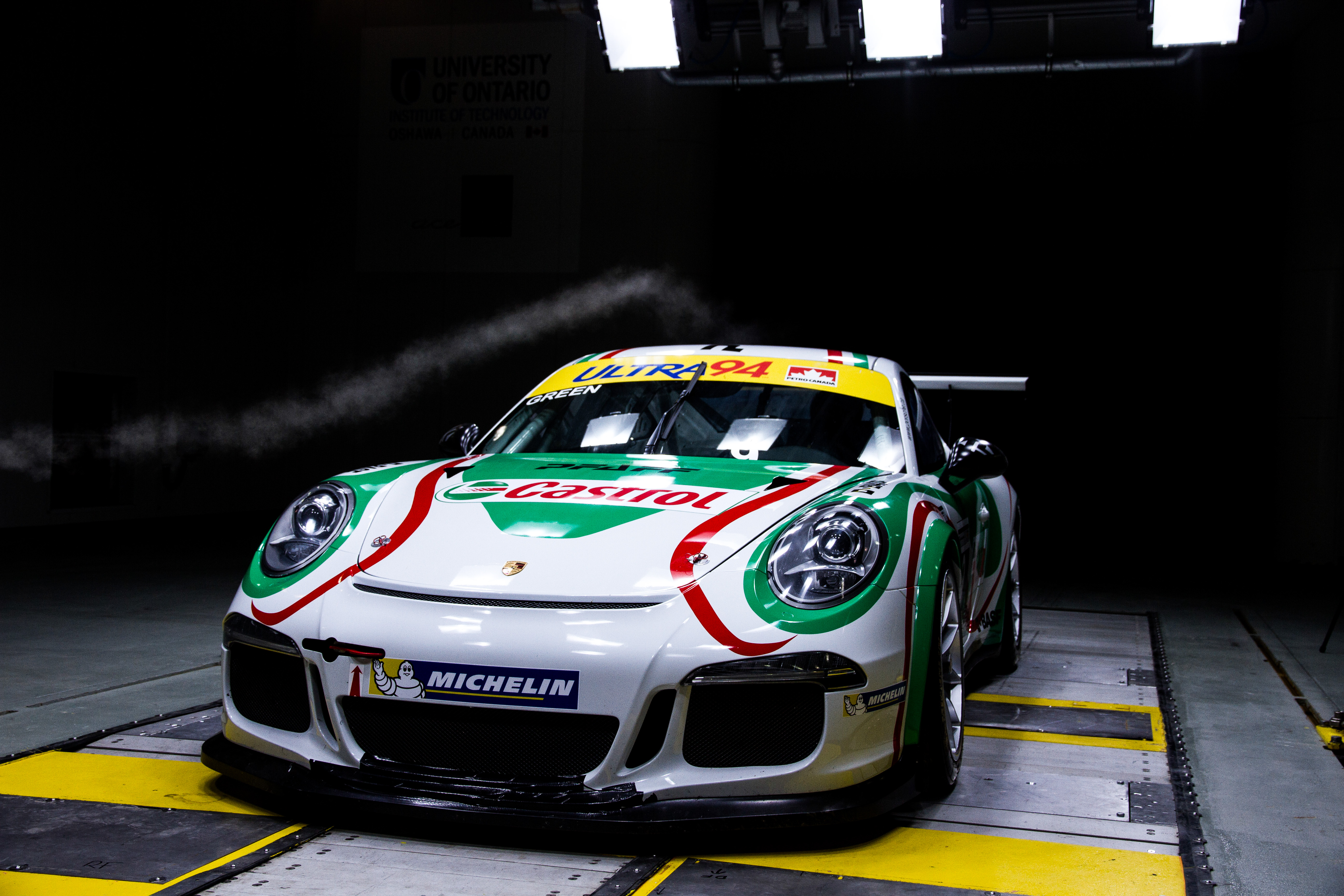 Porsche being tested in the CWT