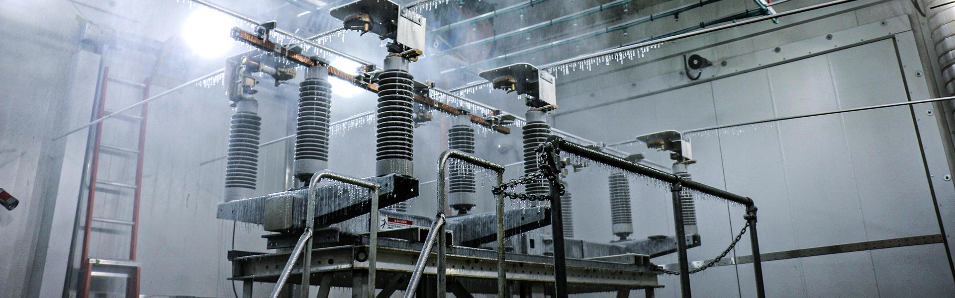 Freezing rain on a transformer