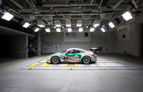 Race Car in Wind Tunnel