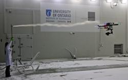 UAV / Drone Flying in a Frigid Climate Wind Tunnel