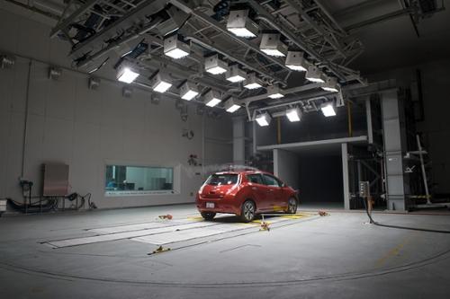 Nissan in Wind Tunnel