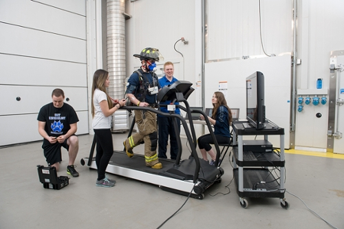 Health Science Conducting Fire Fighter Research