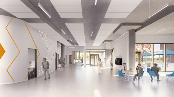 University Centre lobby rendering