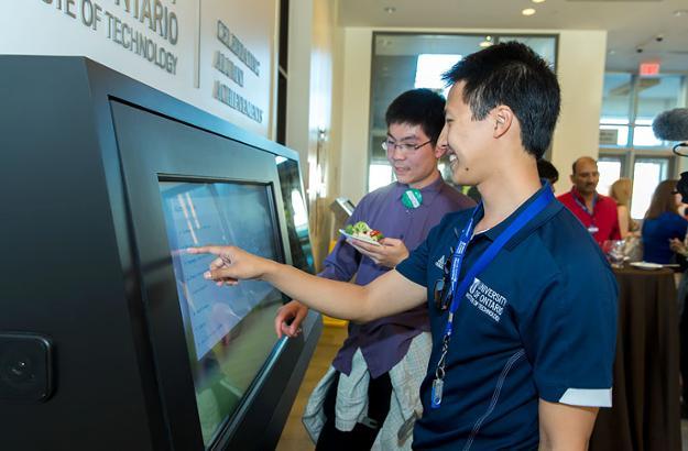 New Digital Display in UB Atrium Celebrates UOIT Alumni