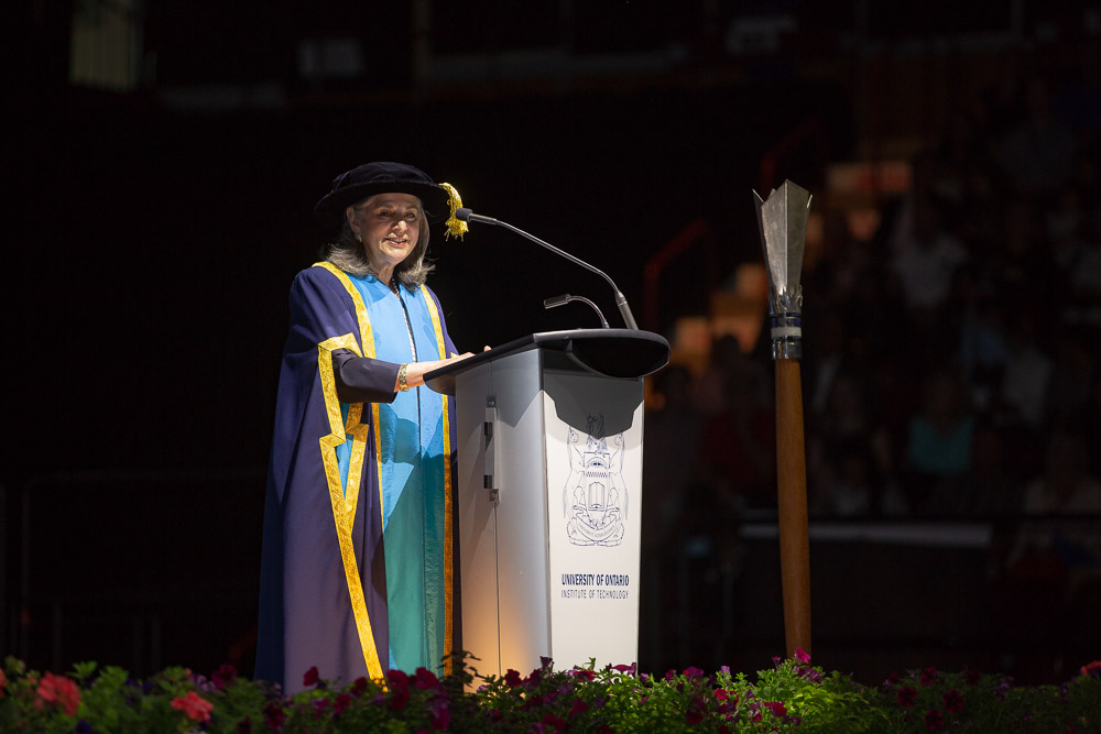 Noreen Taylor, Chancellor, at UOIT Convocation 2018