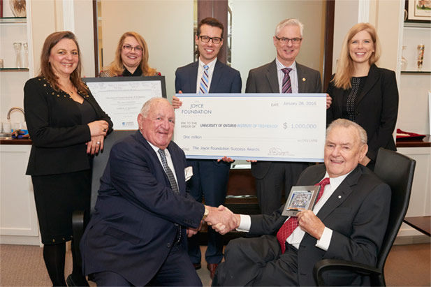 The Joyce Foundation cheque presentation