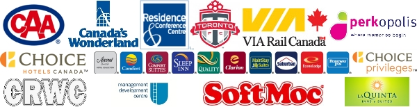 Alumni Benefits and Discounts Partner logos