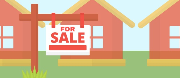 graphic of houses for sale