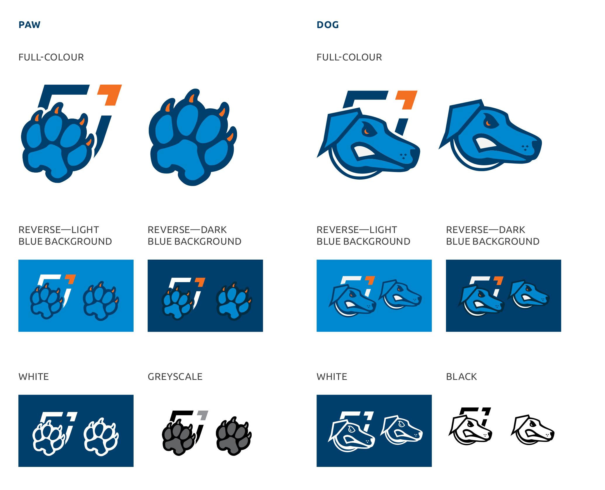 Spirit brand symbol versions