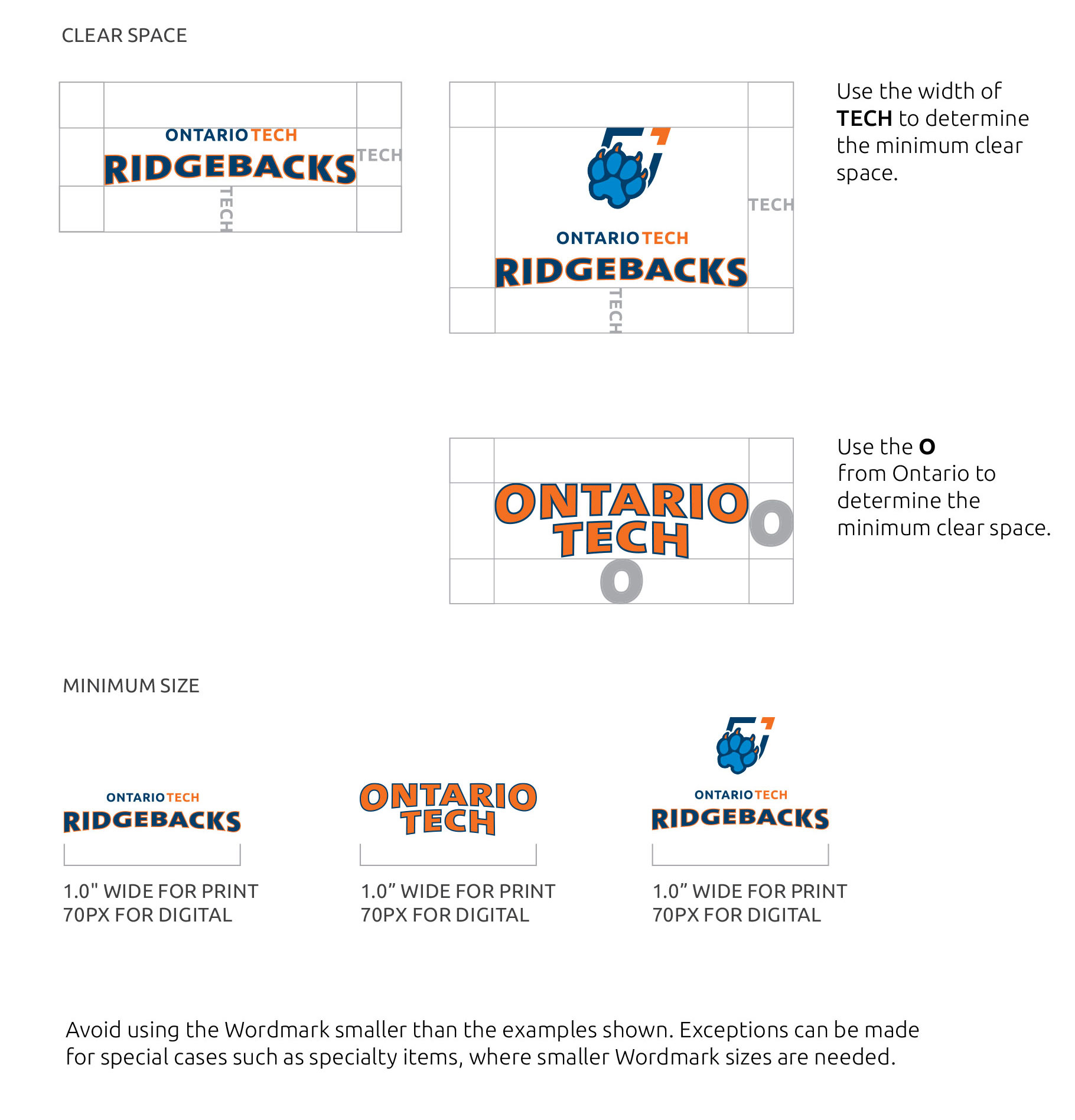 Spirit brand wordmark usage guidelines