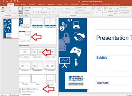 screen capture insert slide Powerpoint
