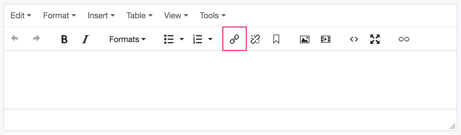 Insert/Edit Link button
