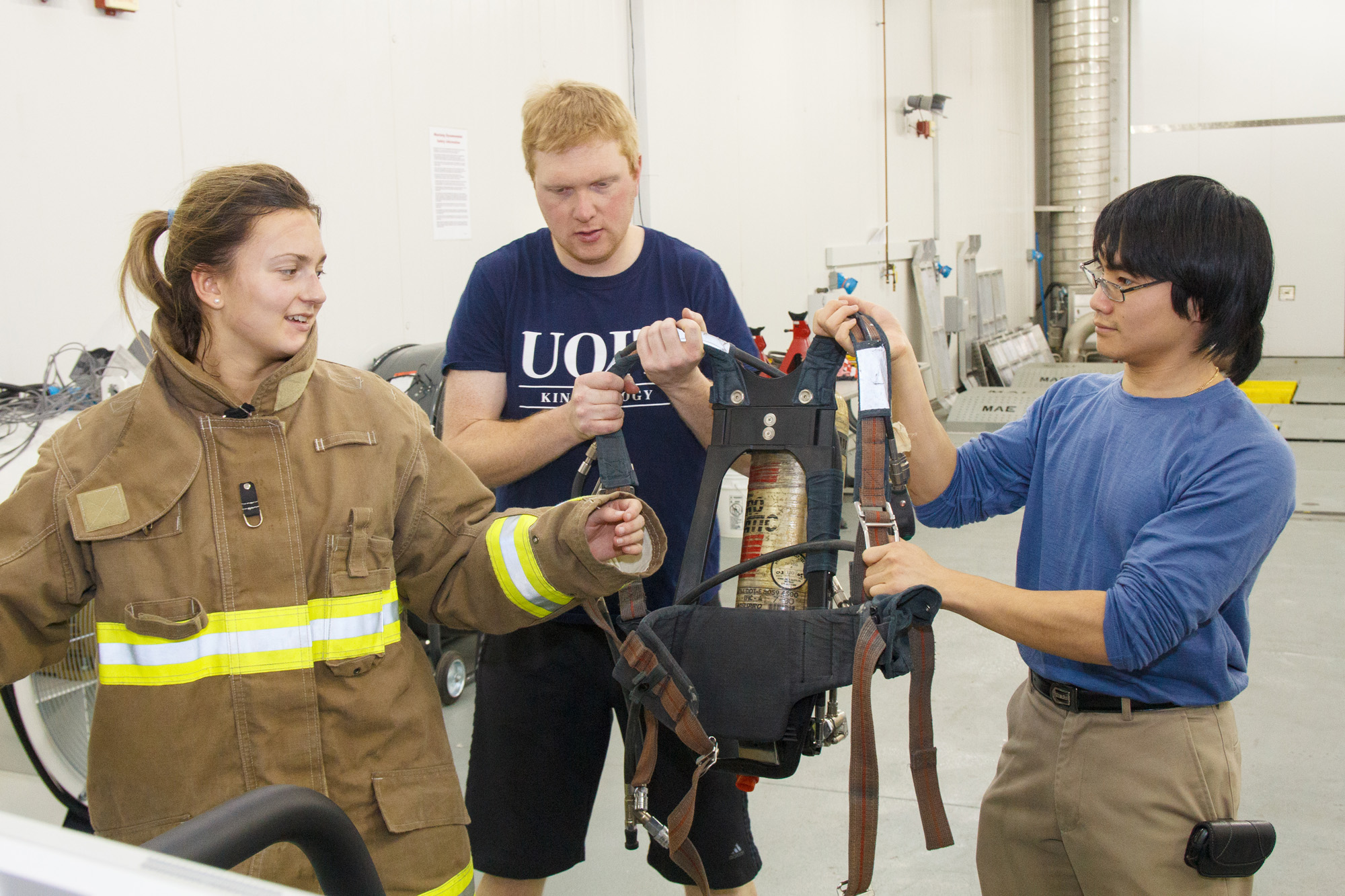 Firefighter testing and training at ACE