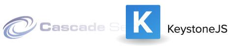 Cascade Server and KeystoneJS logos