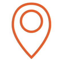 A pin typically used to mark locations on online maps