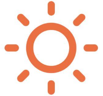 an outline of the sun