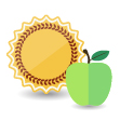 Apple and Sun icon