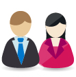 Icon of professionally dressed man and woman