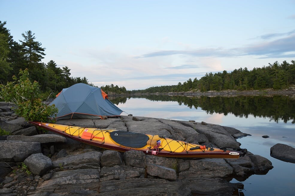 """2nd -""""A serene campsite in the French River Provincial Park""""– Paradise submitted by Mike Whitmarsh, Faculty of Education"""