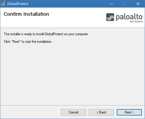 Image of confirm installation