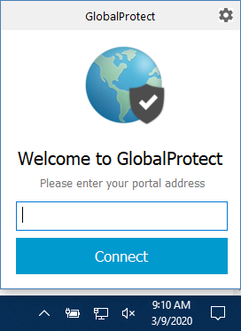 Image of GlobalProtect Screen