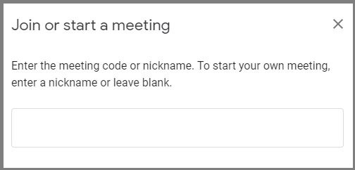 Enter Meeting Code