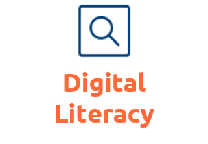 Digital literacy. Icon by icons8.com