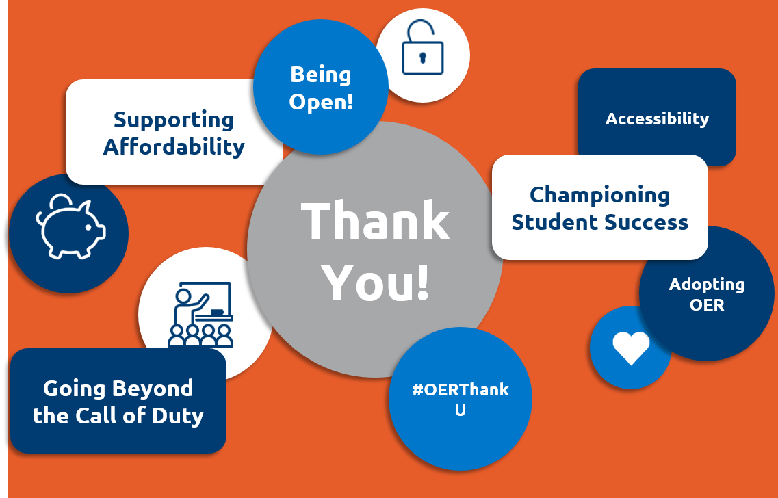 OER Thank U, thank you for supporting student success and going beyond the call of duty