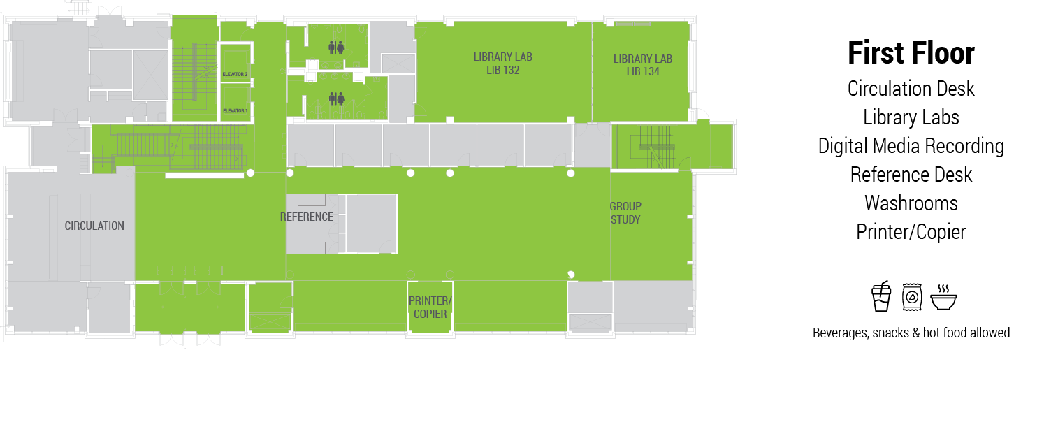 library first floor plan