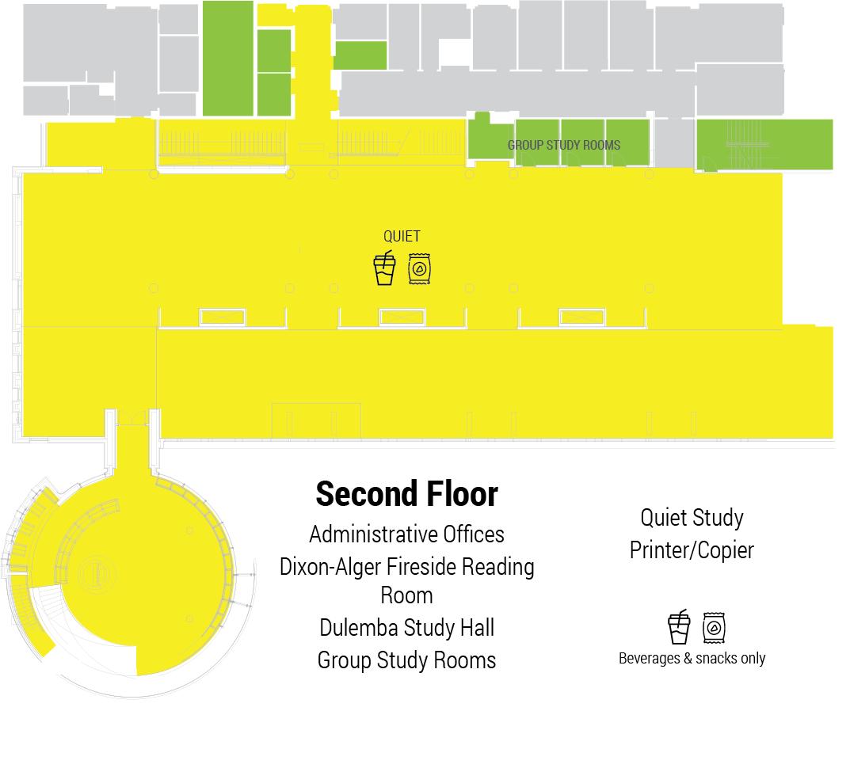 second floor library floor plan