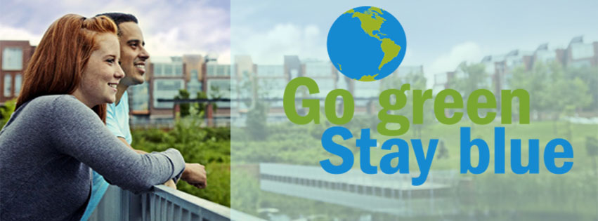 Go Green Stay Blue Banner