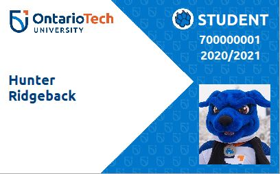 image of campus ID physical card