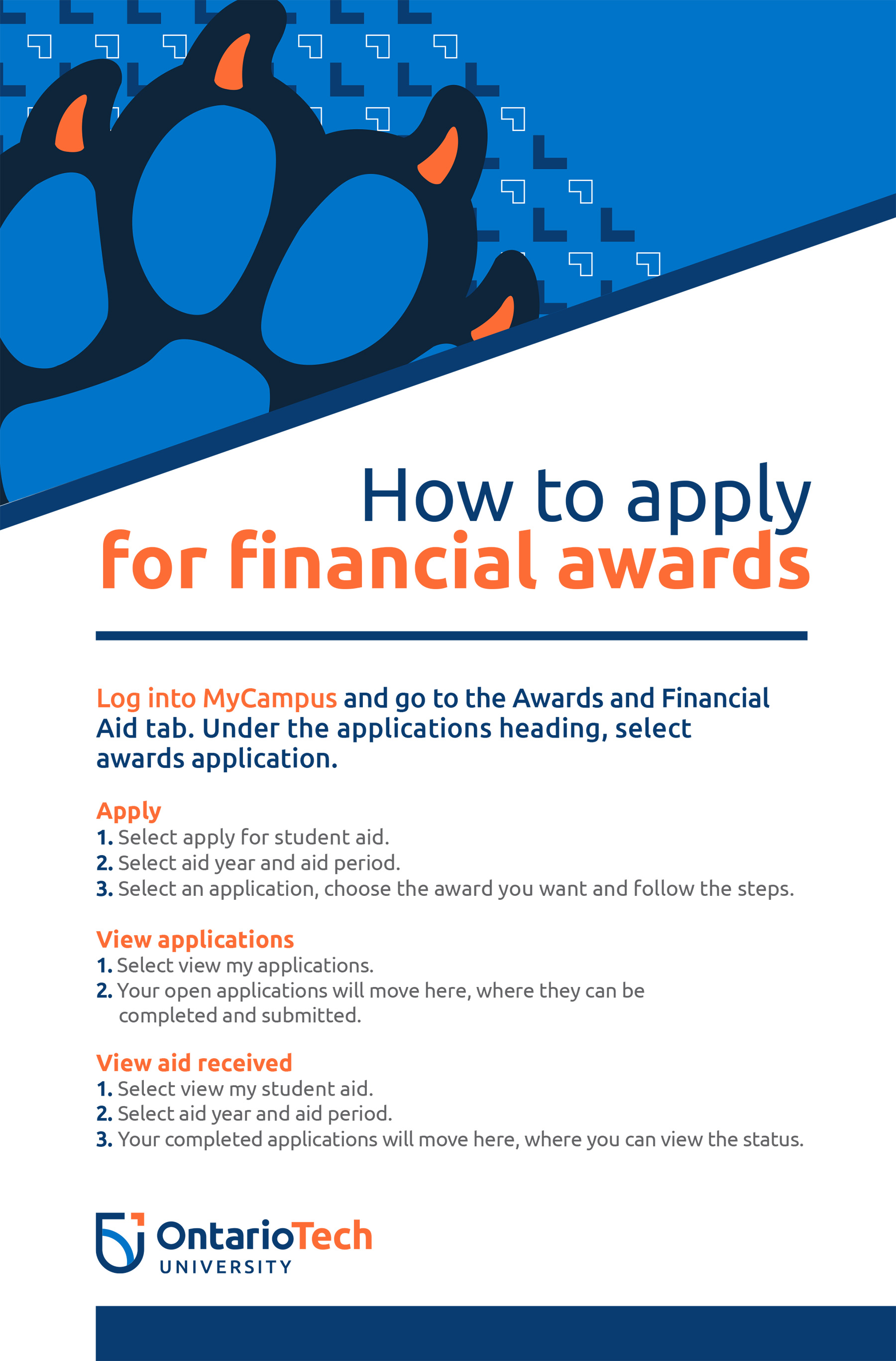how to apply for financial awards