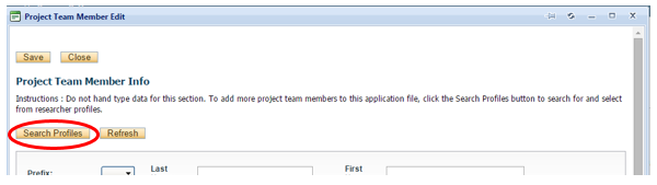 Add Project Team Members