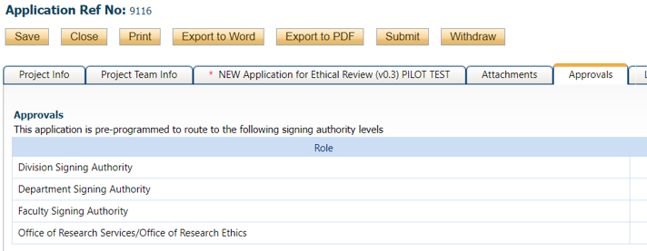 Signing Authority Levels