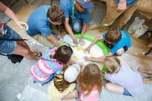 Science Rendezvous slime pool activity for kids