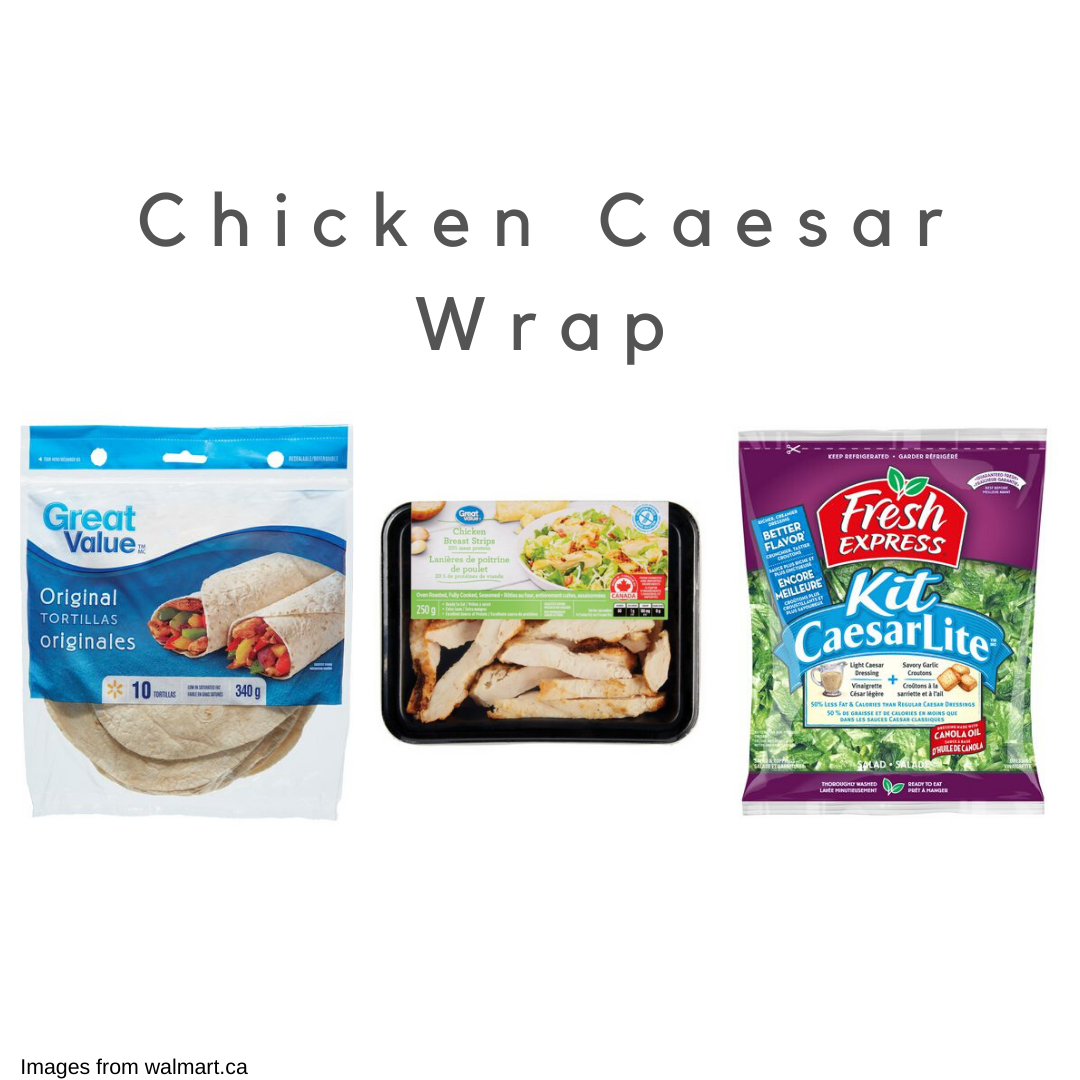 Chicken caeser wrap