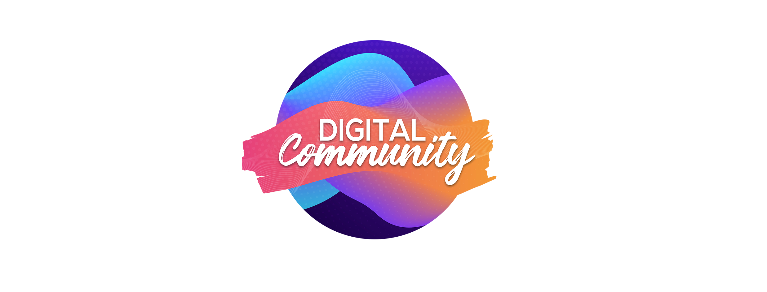 Digital Community icon with multiple colours