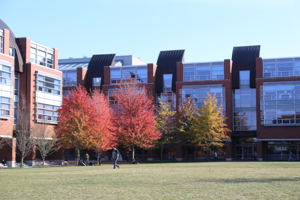Polonsky Commons in fall.