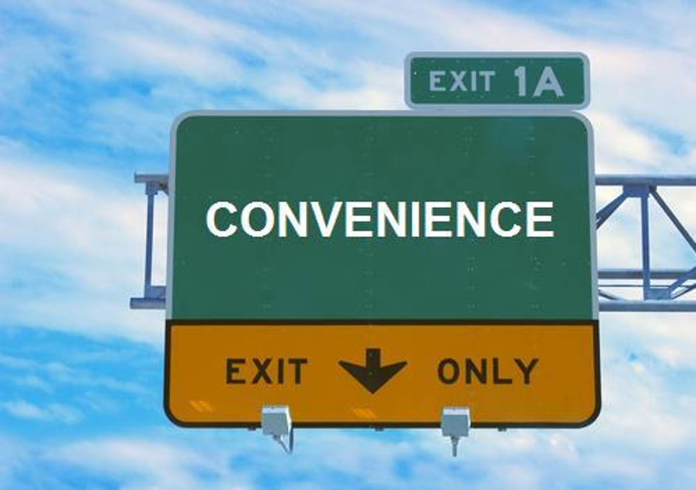 convenience road sign