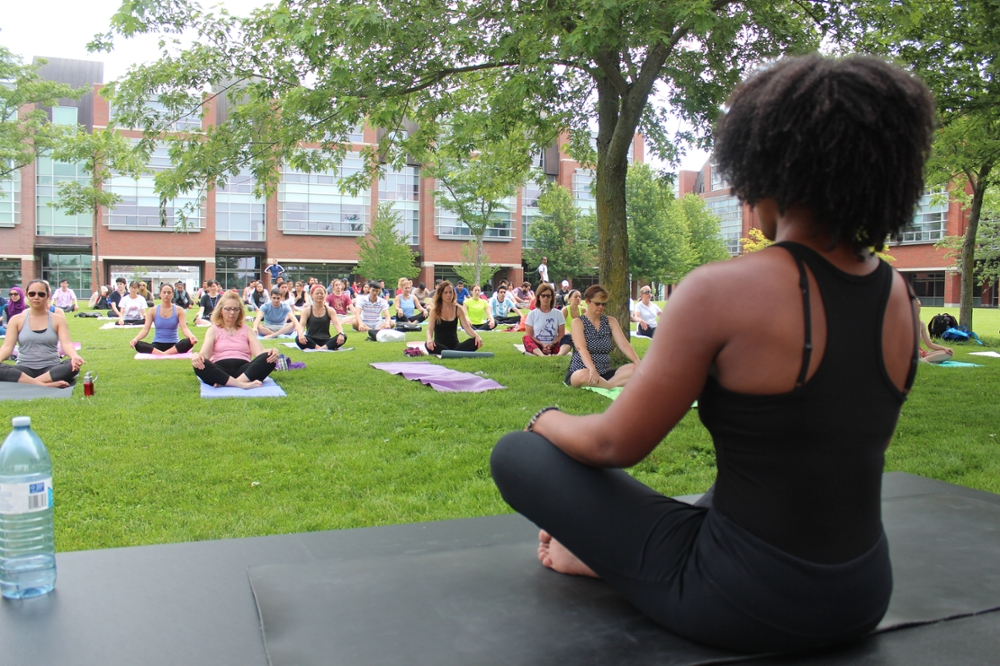 yoga in the commons