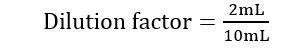 Dilution factor example