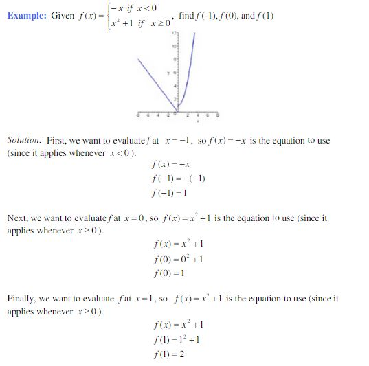Piecewise Function Example