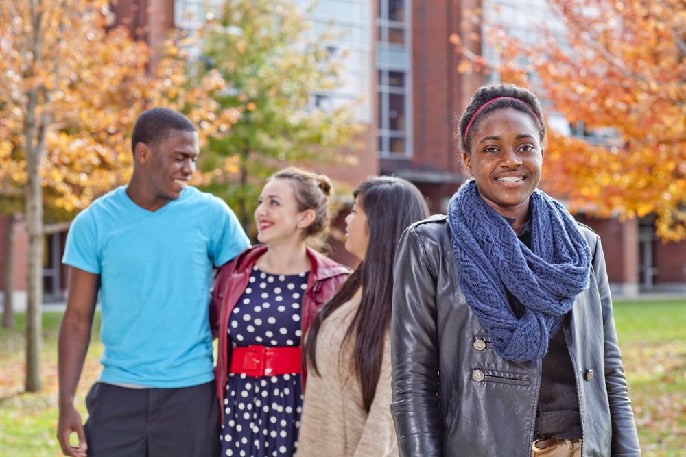 Students gathering
