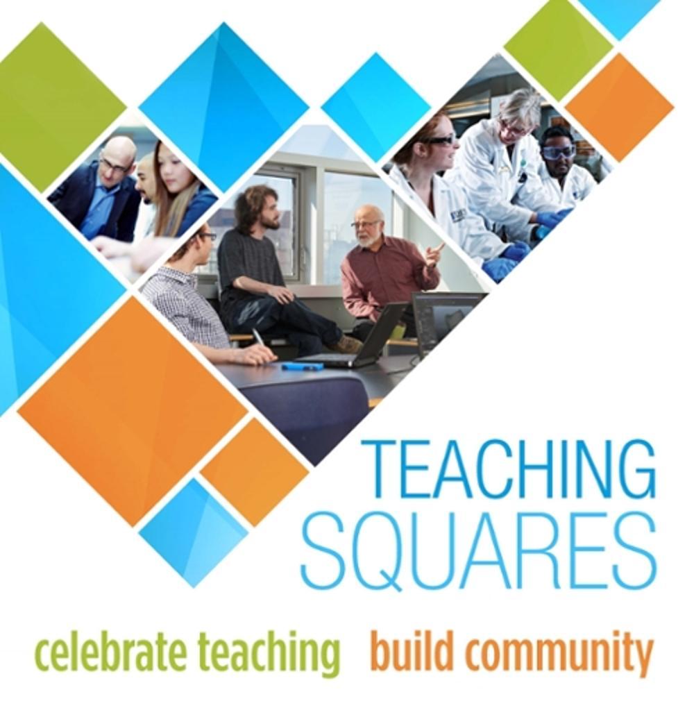 Teaching Squares Logo - celebrate teaching, build community