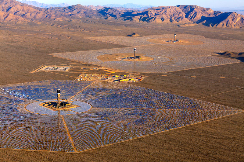 The Ivanpah Solar Power Facility in California