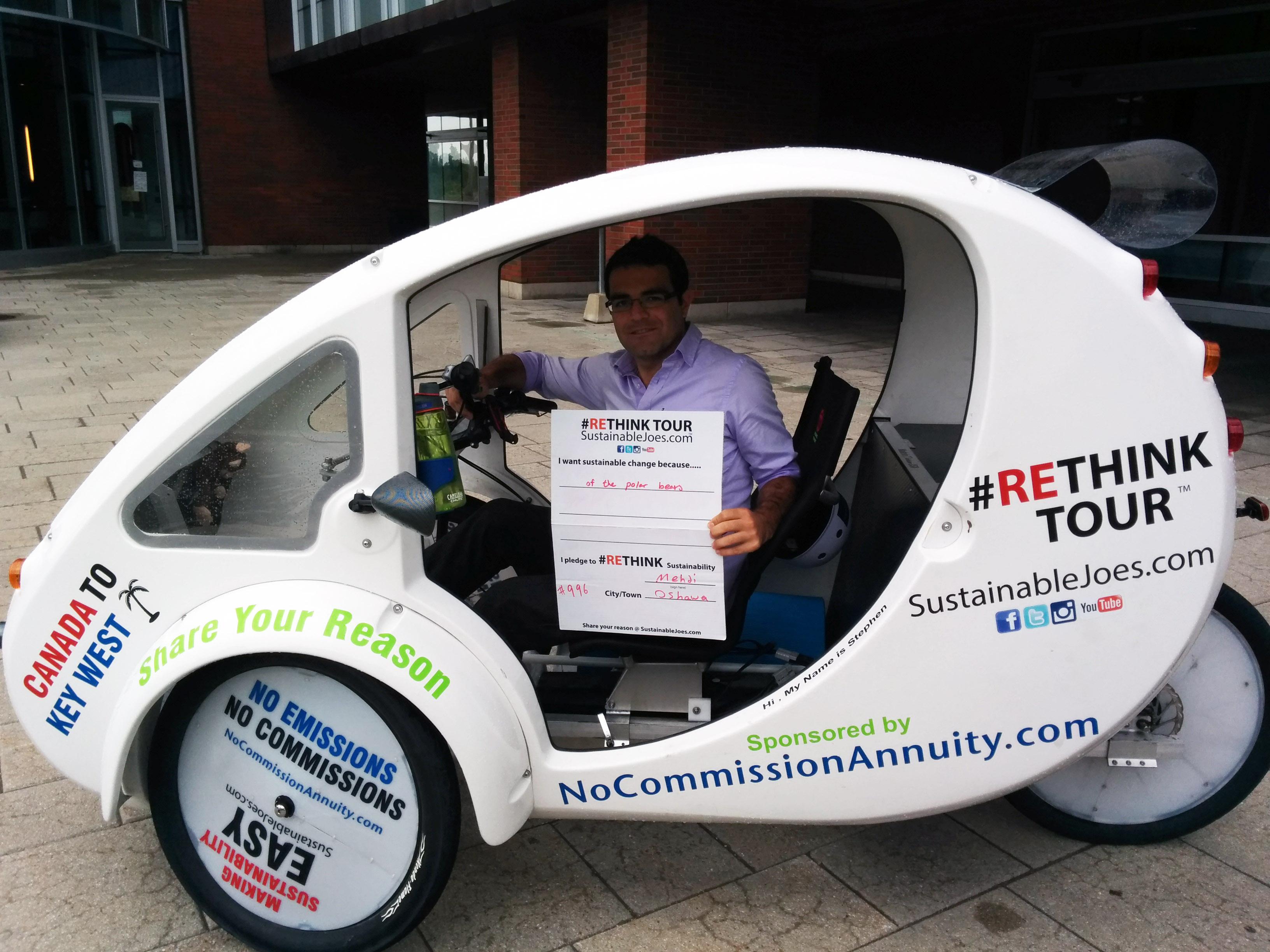 SustainableJoes' #Rethink Tour's Solar Power Tricycle