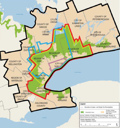 Map of Toronto's 5 boundary schemes