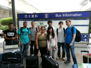 students arriving in Hong Kong