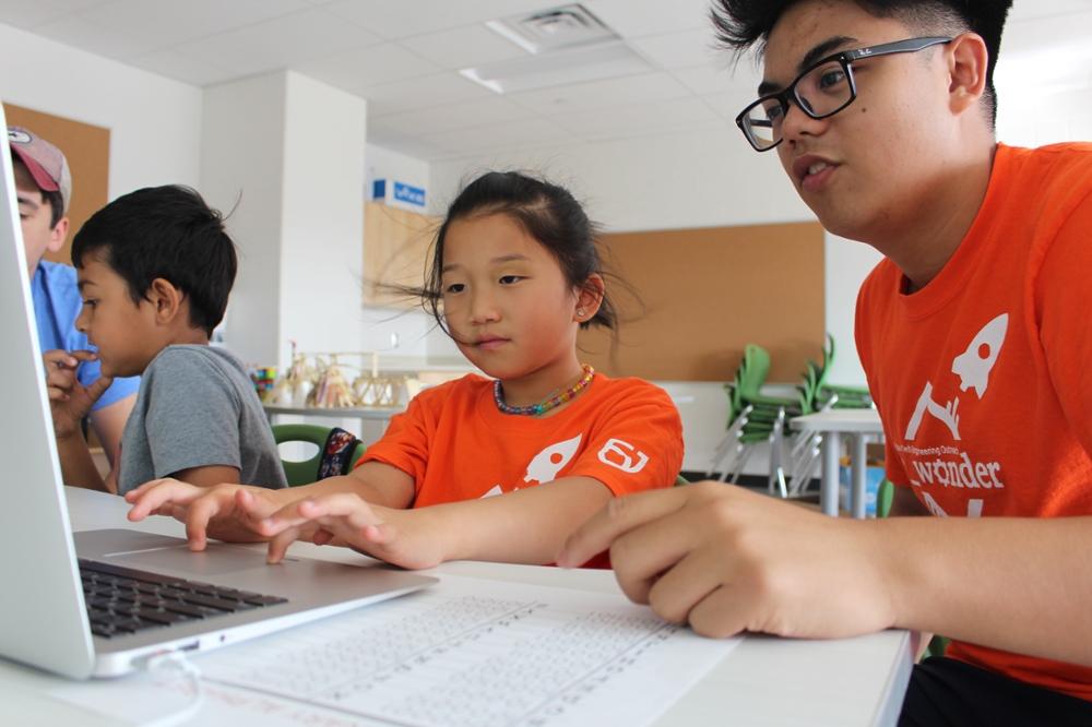Children at c_wonder camp